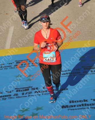 10-19-2014 - Pam crossing finish line