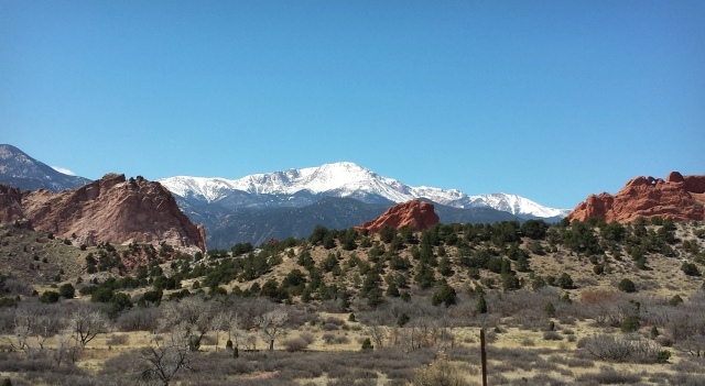 3-31-2015 - Pike's Peak as seen from Garden of the Gods