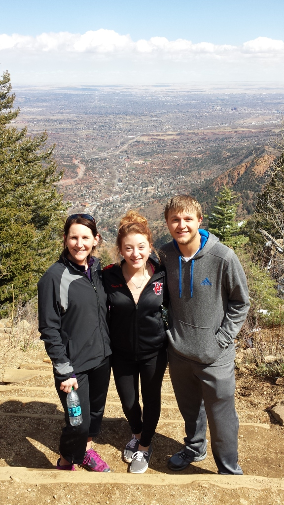 4-3-2015 - Pam, Taylor & Justin at the top of The Incline