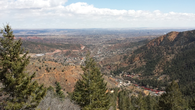 4-3-2015 - The town as seen from The Incline
