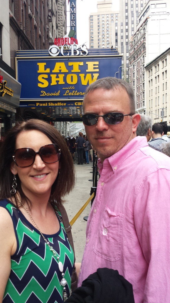 5-12-2015 - Pam & Dewayne at Letterman taping