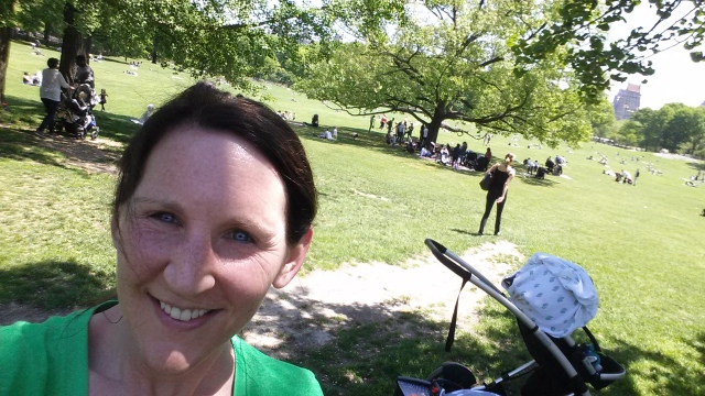5-14-2015 - Pam after comeback run in Central Park