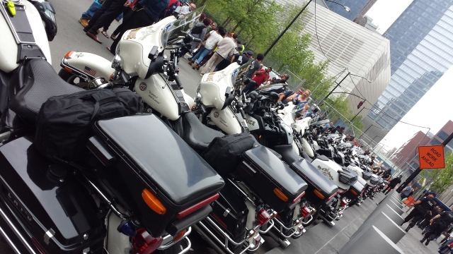 5-9-2015 - LAPD in NYC on freedom tour 2