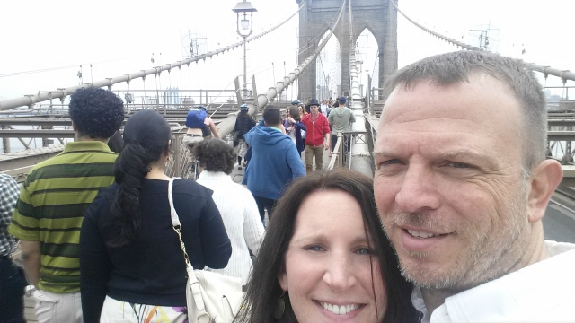 5-9-2015 - Pam & Dewayne on Brooklyn Bridge