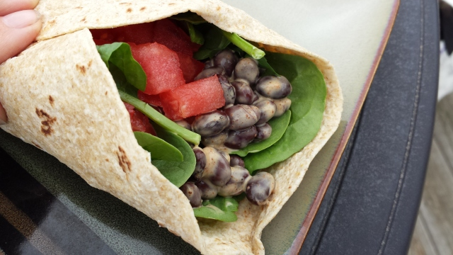 Smokey black bean wrap HHC