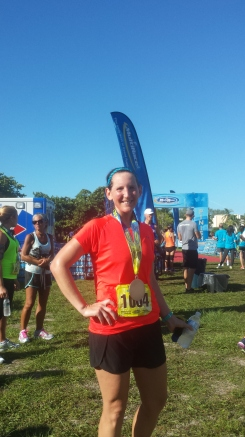 10-4-2015 - Finish line of Key Biscayne Half Marathon